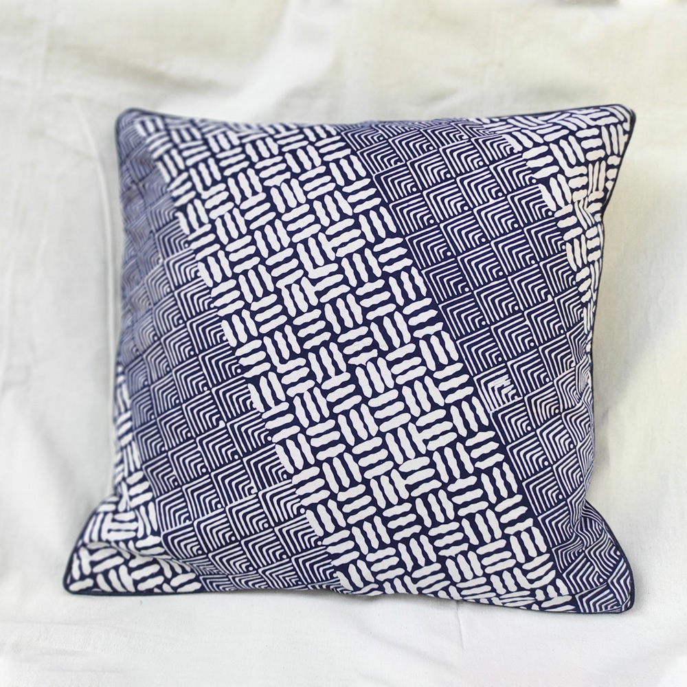 Blue Batik Cushion Cover