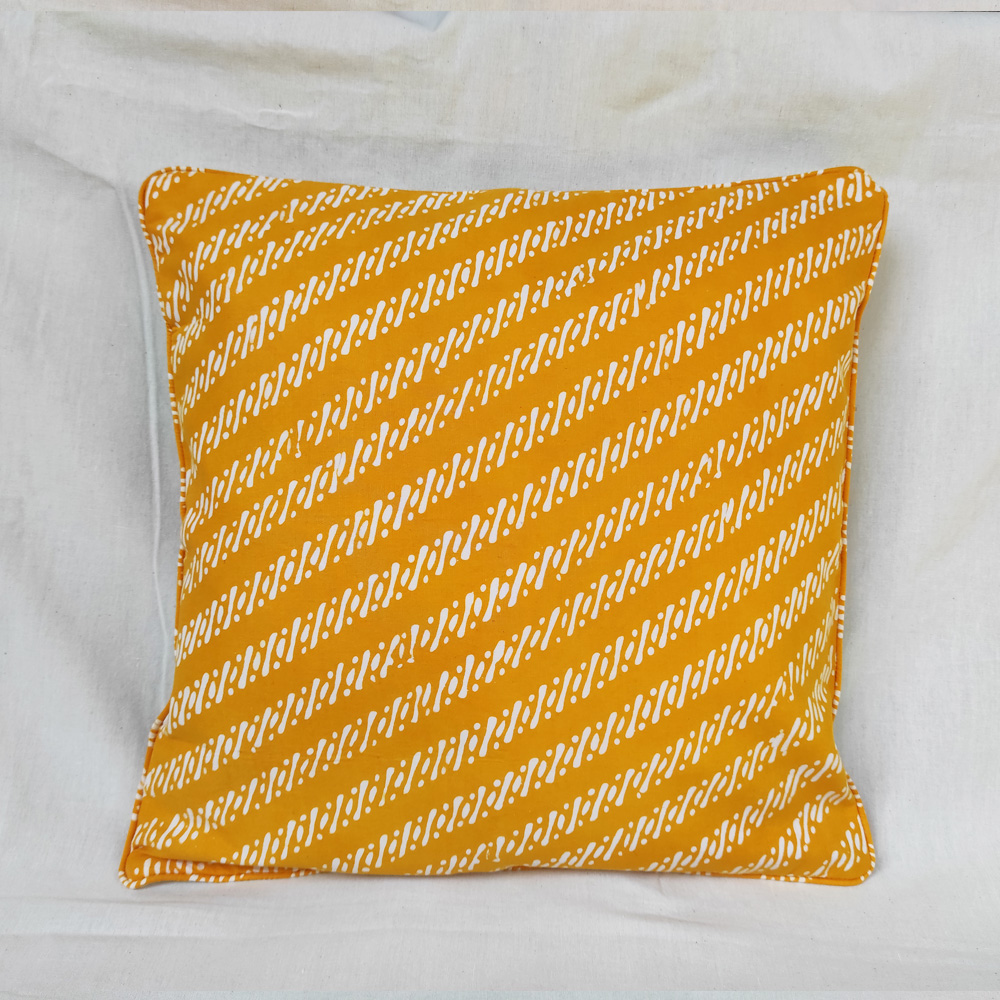 Yellow Batik Cushion Cover