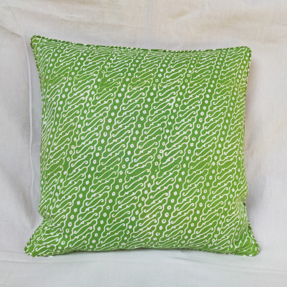 Pastel Green Batik Cushion Cover