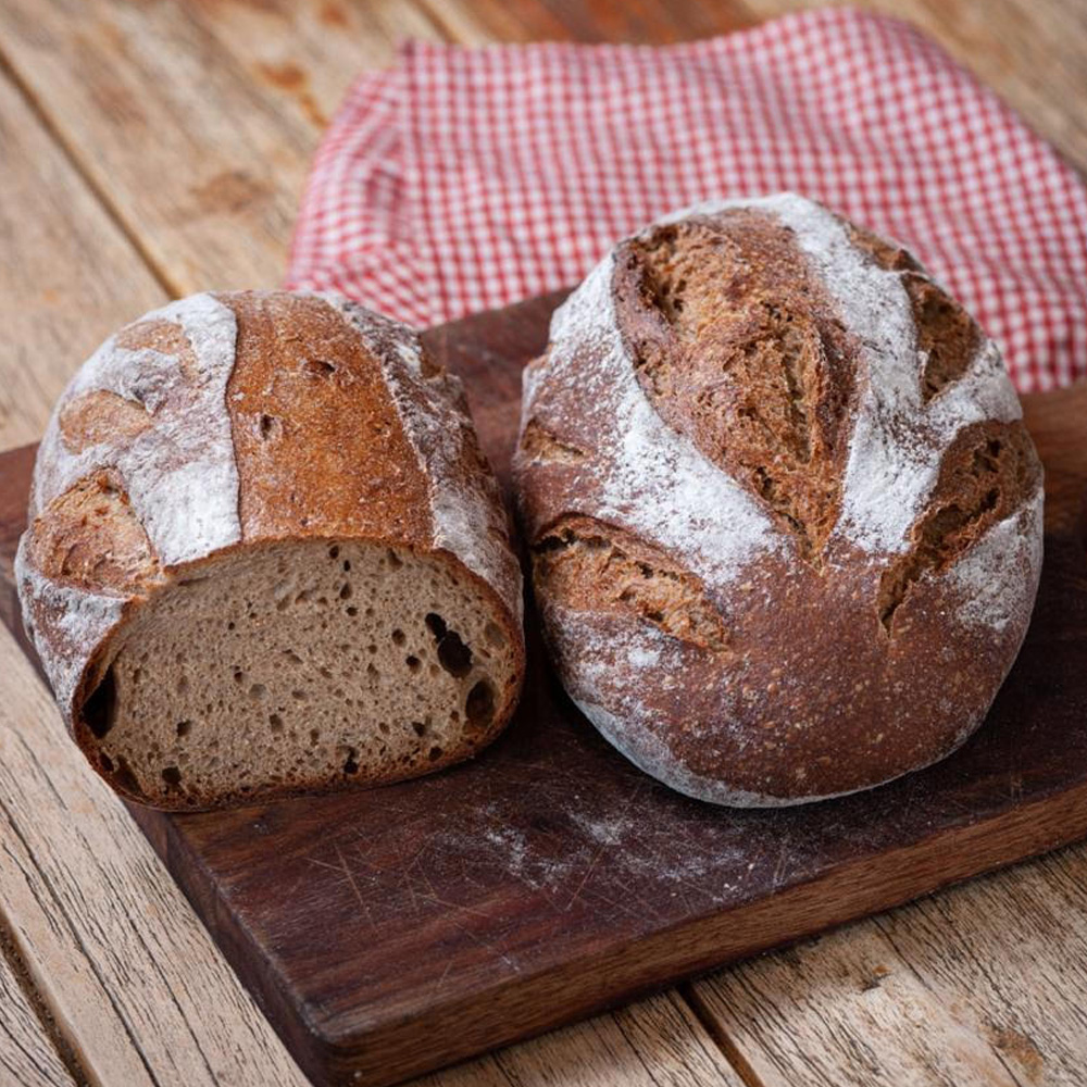 Brown Rustic Loaf with Rye and Sourdough (1kg)